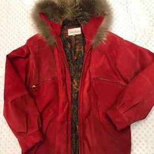 Vintage neiman marcus suede bomber jacket 1980s